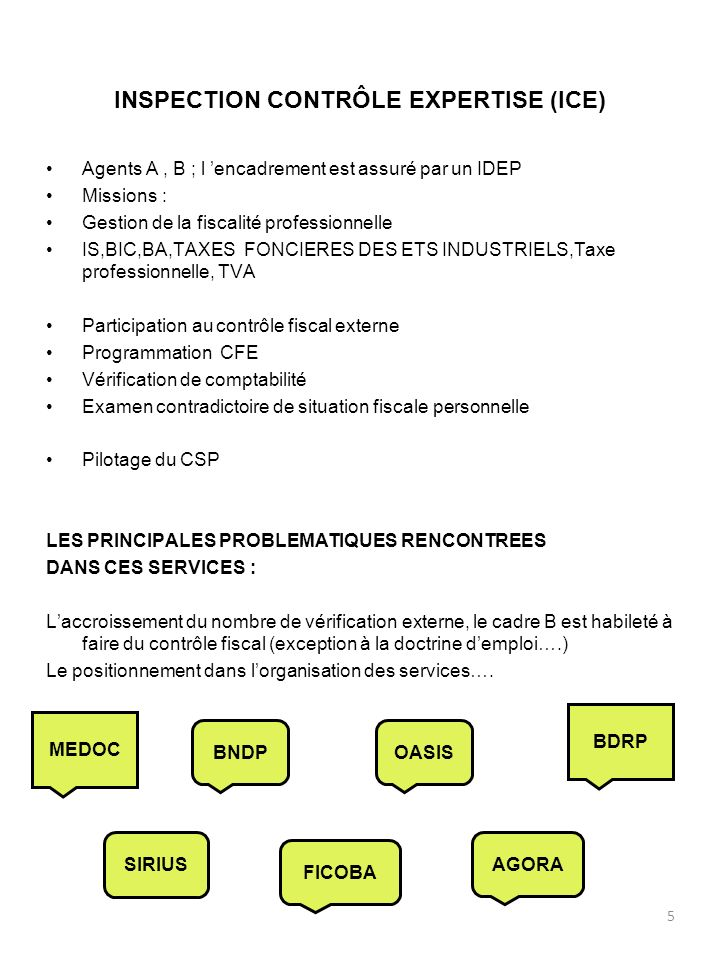INSPECTION CONTRÔLE EXPERTISE (ICE)