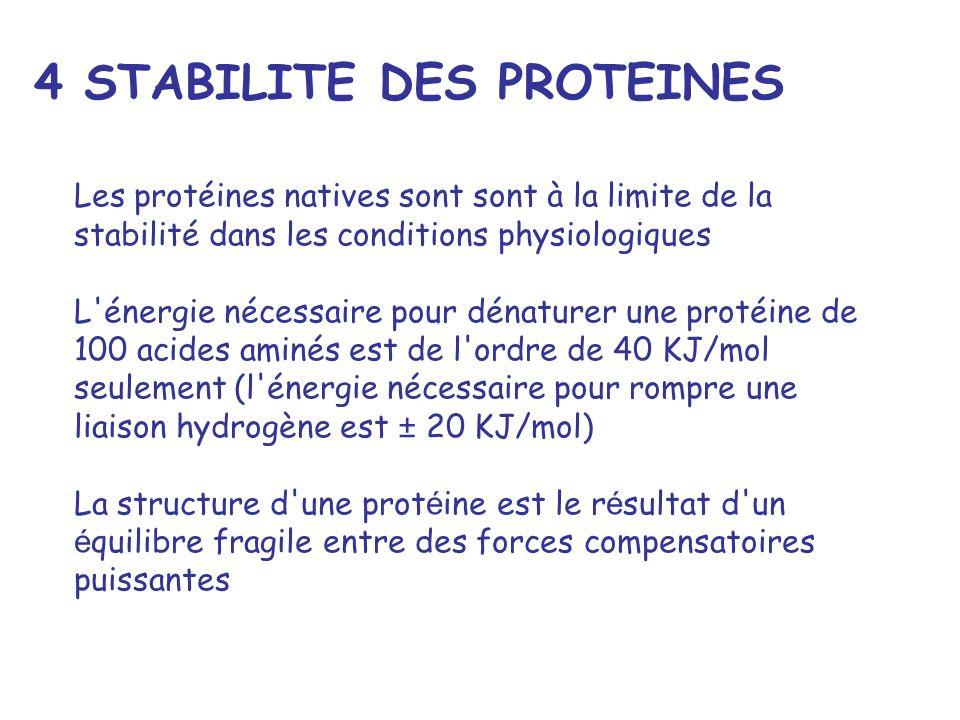 4 STABILITE DES PROTEINES