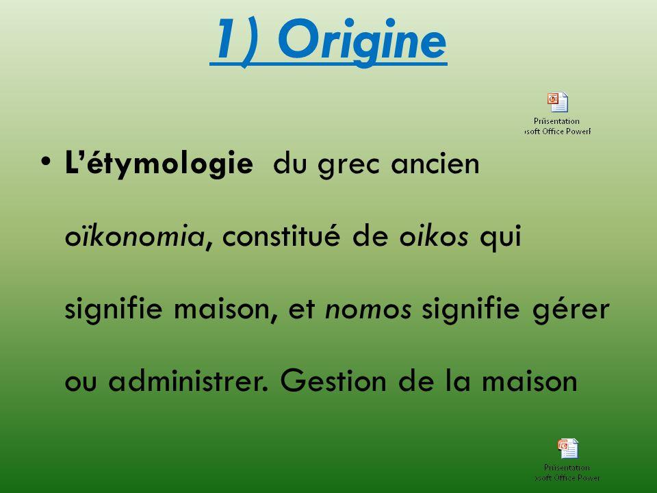 1) Origine