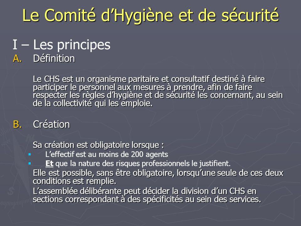 Le Comité d'Hygiène et de sécurité