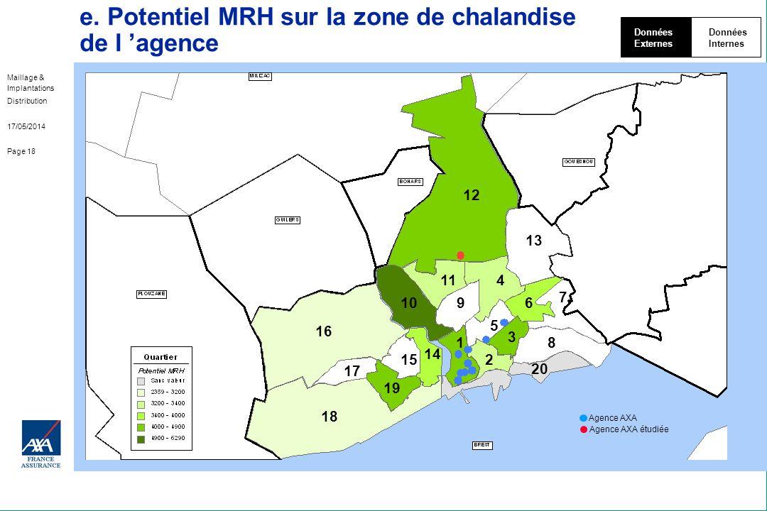 e. Potentiel MRH sur la zone de chalandise de l 'agence