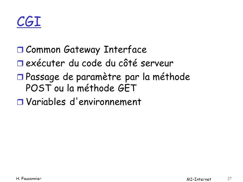 CGI Common Gateway Interface exécuter du code du côté serveur