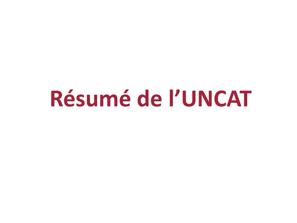 Résumé de l'UNCAT