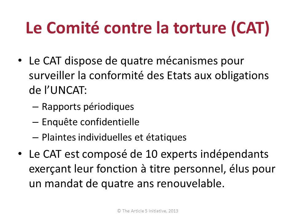 Le Comité contre la torture (CAT)