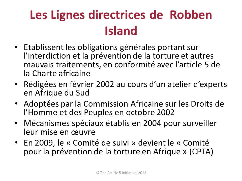 Les Lignes directrices de Robben Island