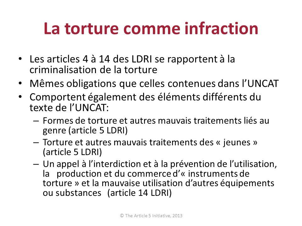 La torture comme infraction