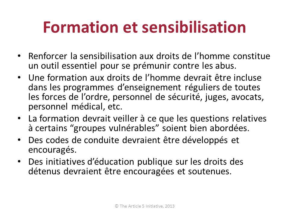 Formation et sensibilisation