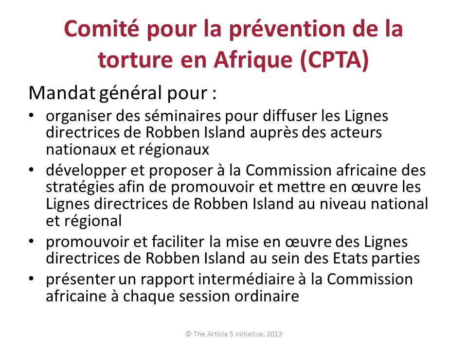 Comité pour la prévention de la torture en Afrique (CPTA)