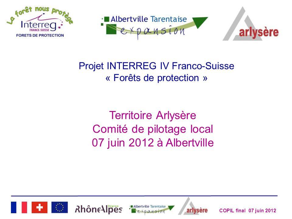 Comité de pilotage local 07 juin 2012 à Albertville