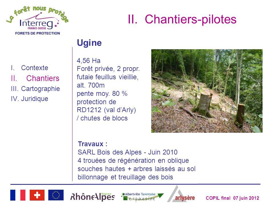 Chantiers-pilotes Ugine Chantiers 4,56 Ha Forêt privée, 2 propr.