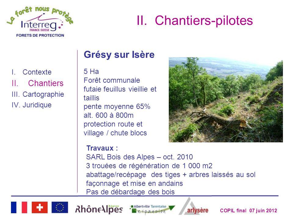 Chantiers-pilotes Grésy sur Isère Chantiers 5 Ha Forêt communale