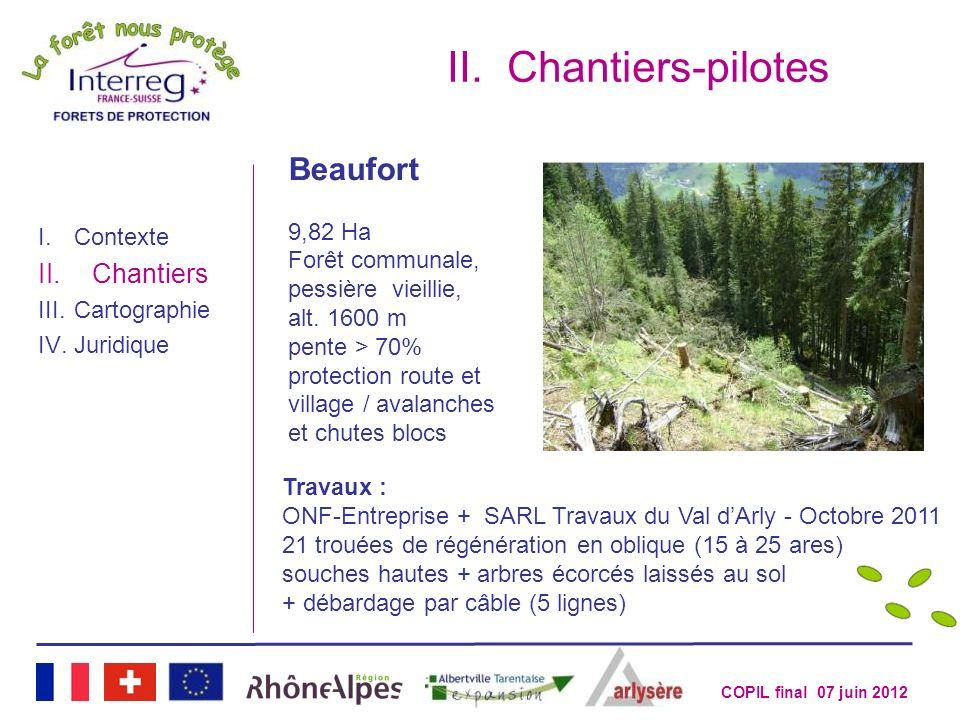 Chantiers-pilotes Beaufort Chantiers 9,82 Ha Forêt communale,