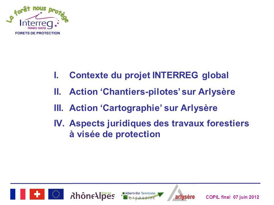 Contexte du projet INTERREG global