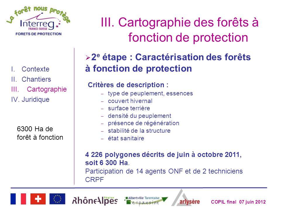 Cartographie des forêts à fonction de protection