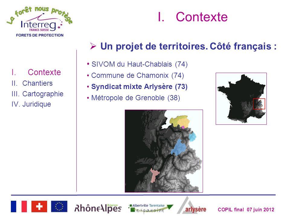 Contexte Un projet de territoires. Côté français :