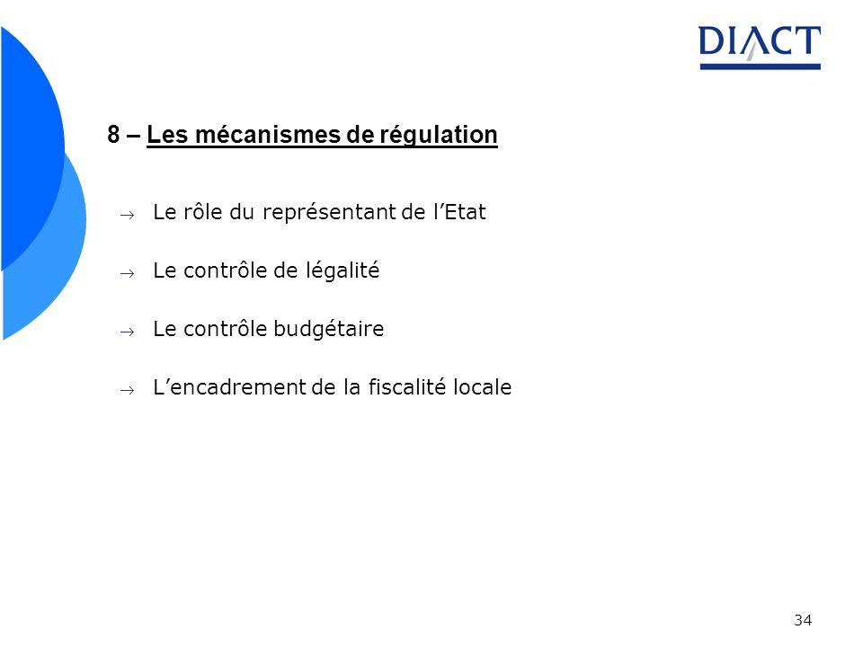 8 – Les mécanismes de régulation