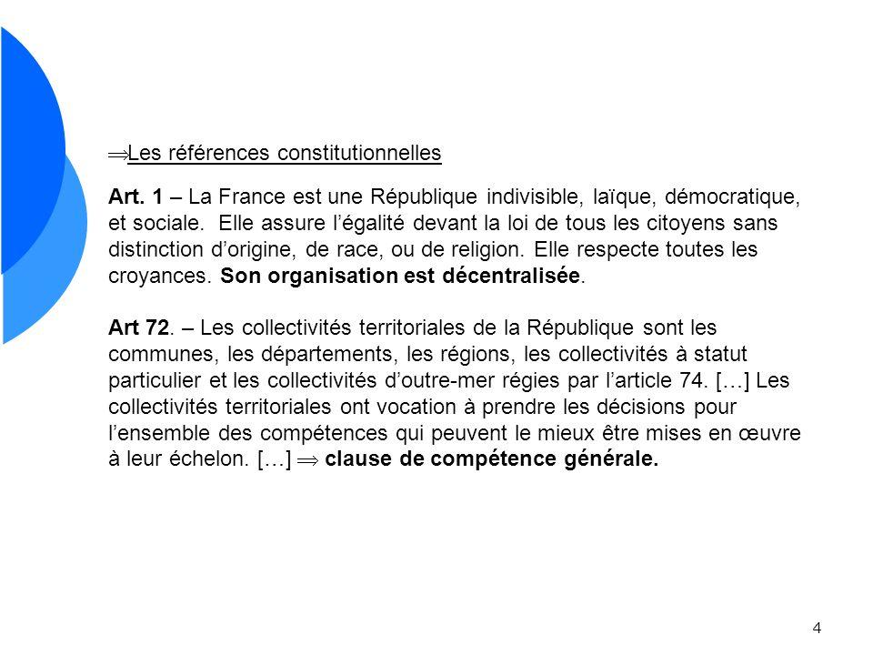 Les références constitutionnelles