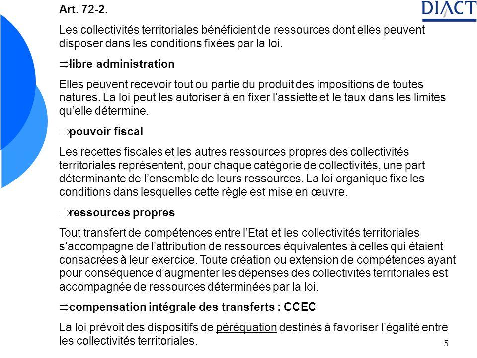 Art. 72-2. Les collectivités territoriales bénéficient de ressources dont elles peuvent disposer dans les conditions fixées par la loi.