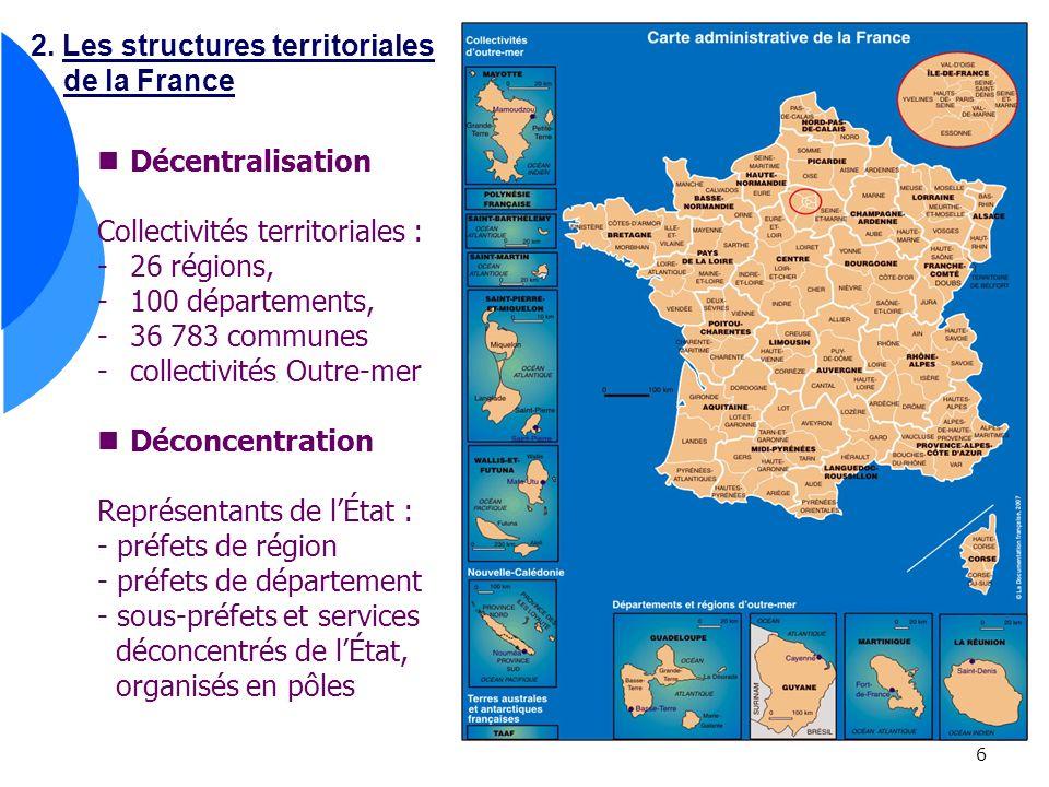 2. Les structures territoriales