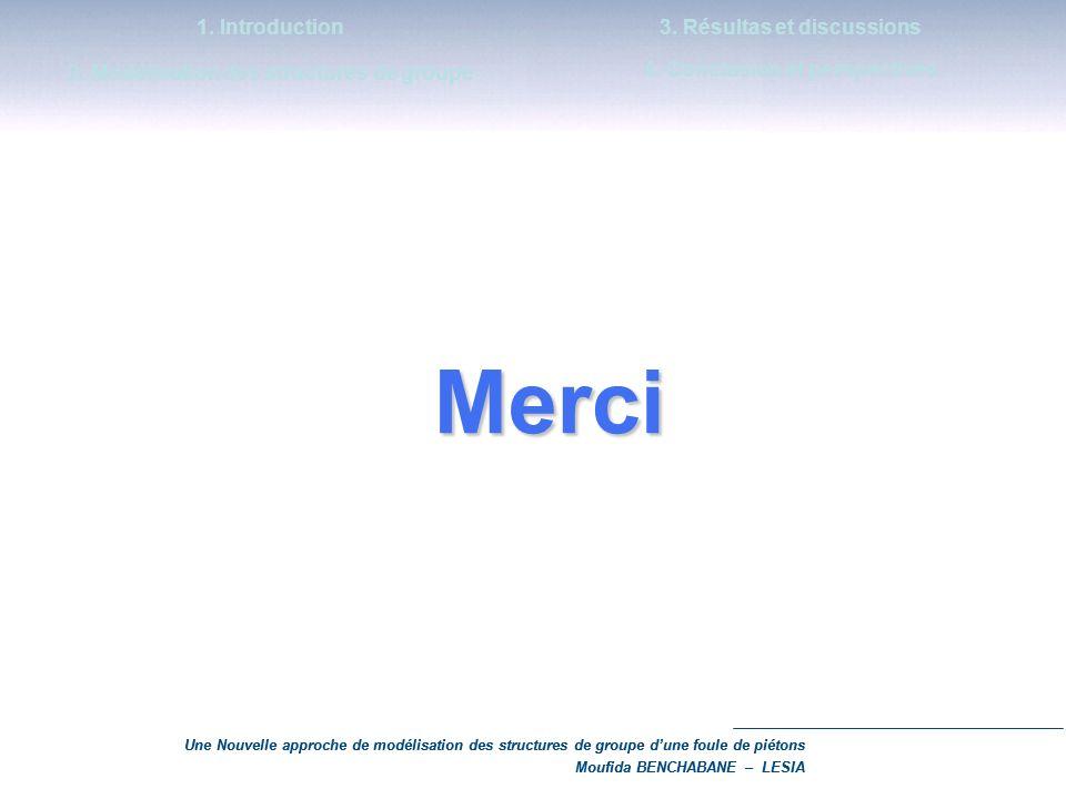 Merci 1. Introduction 2. Modélisation des structures de groupe