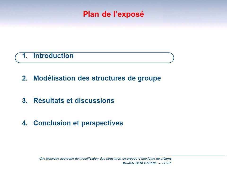 Plan de l'exposé 1. Introduction Modélisation des structures de groupe