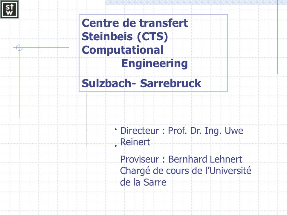 Centre de transfert Steinbeis (CTS) Computational Engineering