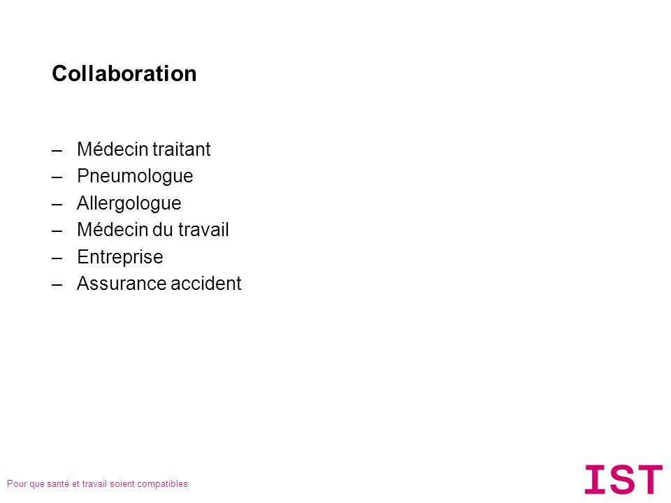 Collaboration Médecin traitant Pneumologue Allergologue