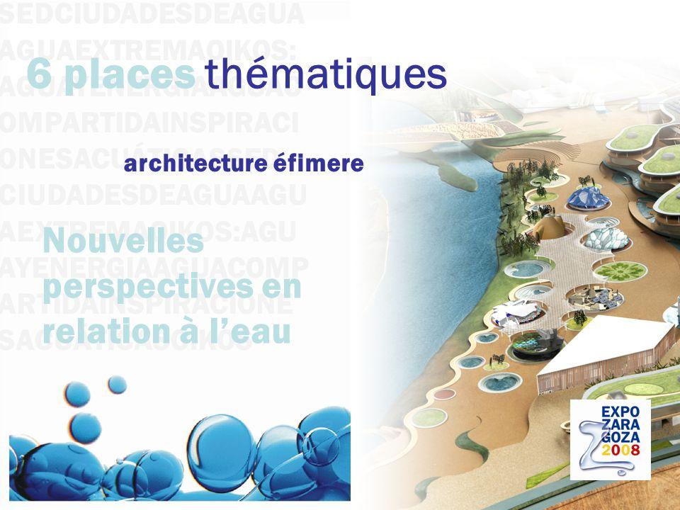 6 places thématiques Nouvelles perspectives en relation à l'eau