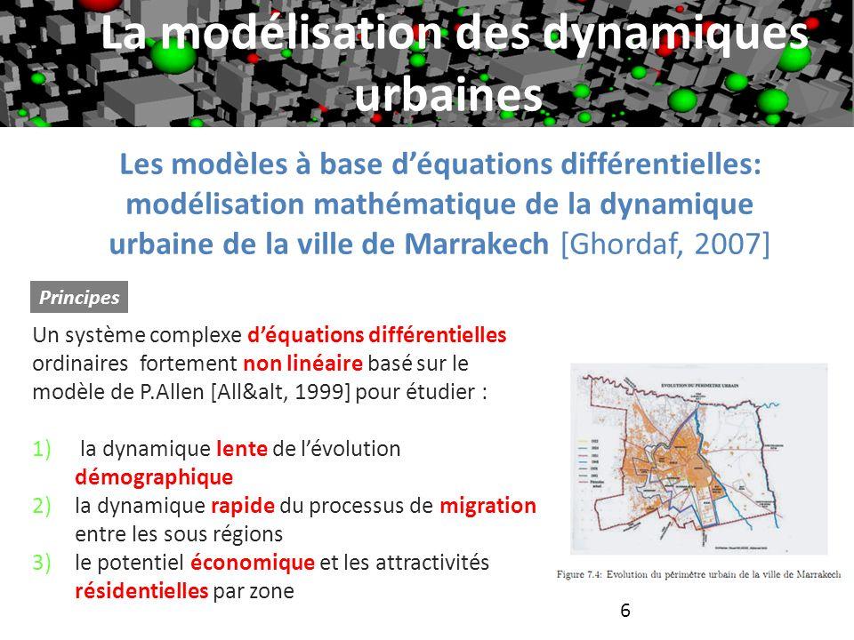 La modélisation des dynamiques urbaines