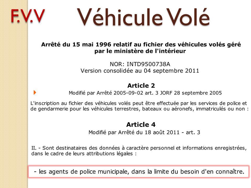 Véhicule Volé F.V.V