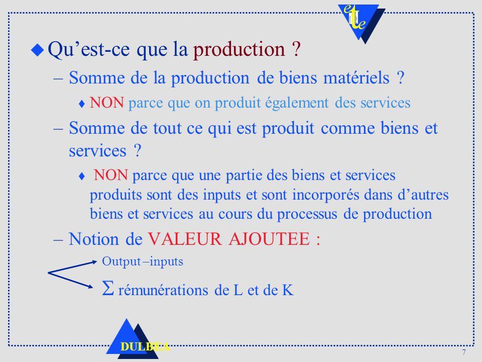 Qu'est-ce que la production