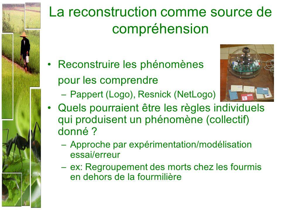 La reconstruction comme source de compréhension