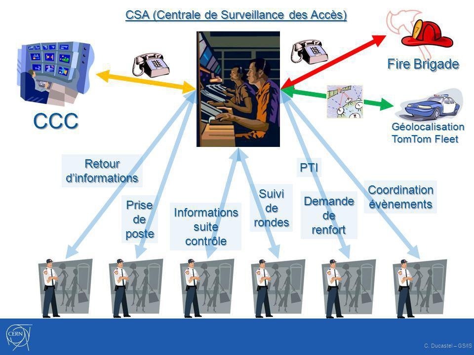 CCC Fire Brigade CSA (Centrale de Surveillance des Accès) Retour