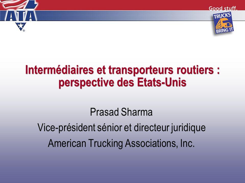 Intermédiaires et transporteurs routiers : perspective des Etats-Unis