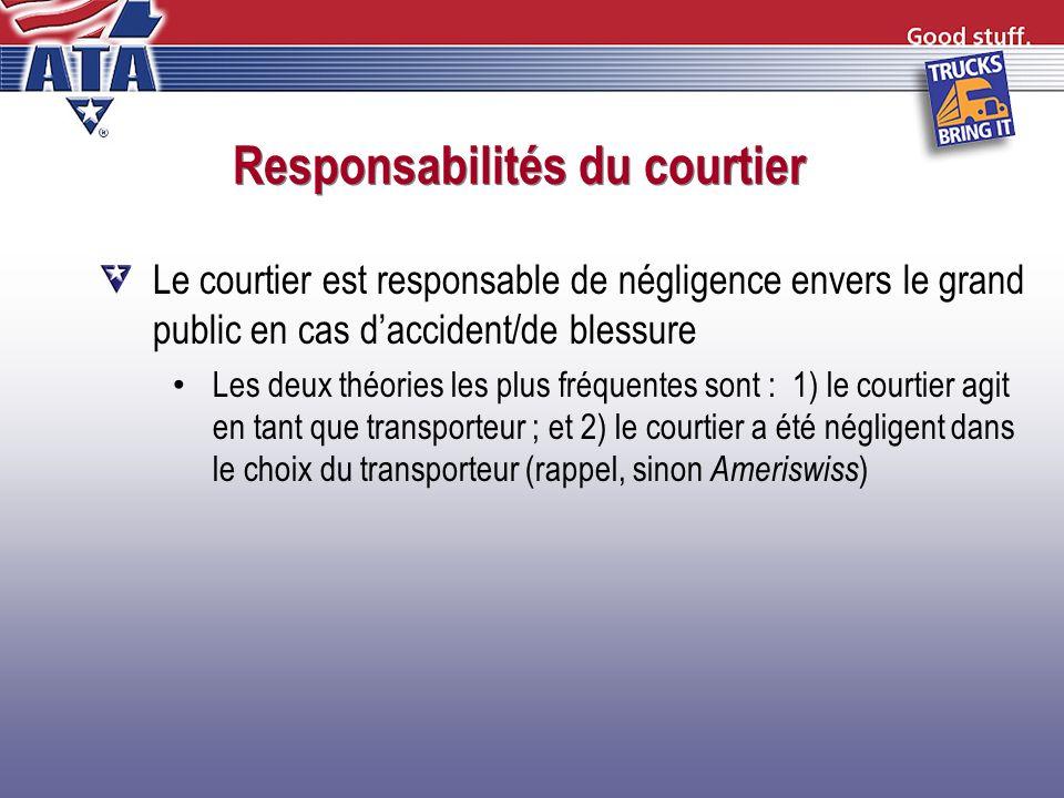 Responsabilités du courtier