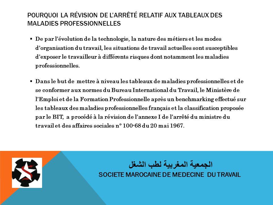 الجمعية المغربية لطب الشغل SOCIETE MAROCAINE DE MEDECINE DU TRAVAIL