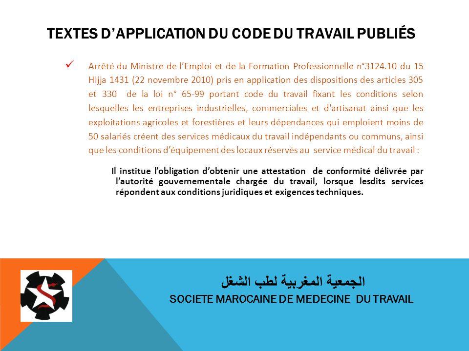 Textes d'application du code du travail publiés