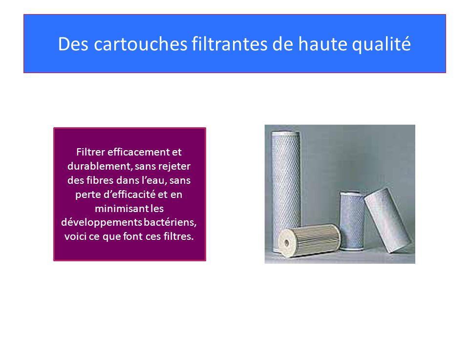Des cartouches filtrantes de haute qualité