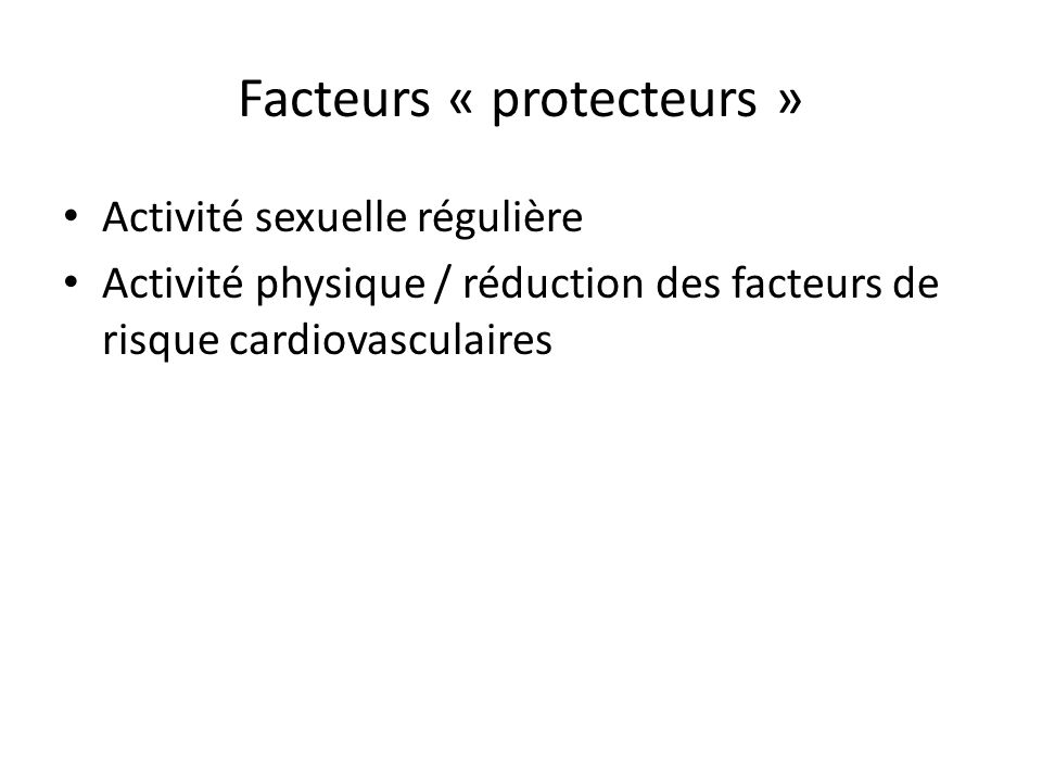 Facteurs « protecteurs »