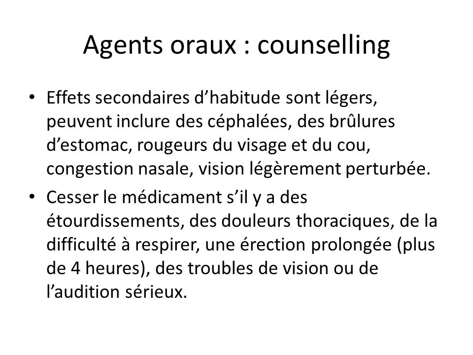 Agents oraux : counselling