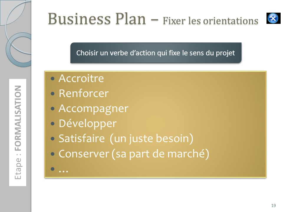 Business Plan – Fixer les orientations