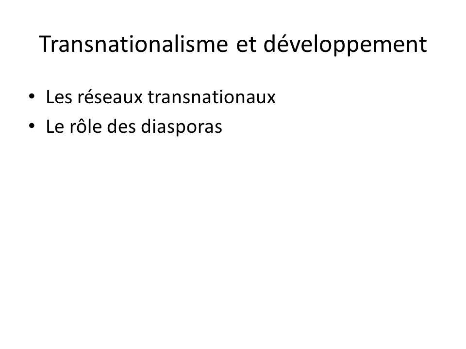 Transnationalisme et développement