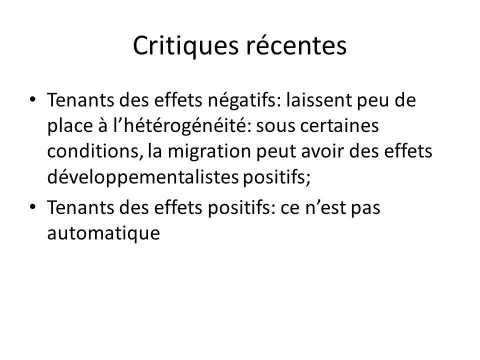 Critiques récentes
