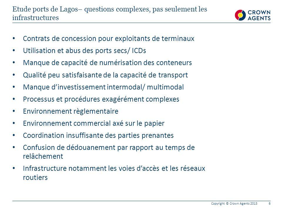 Contrats de concession pour exploitants de terminaux