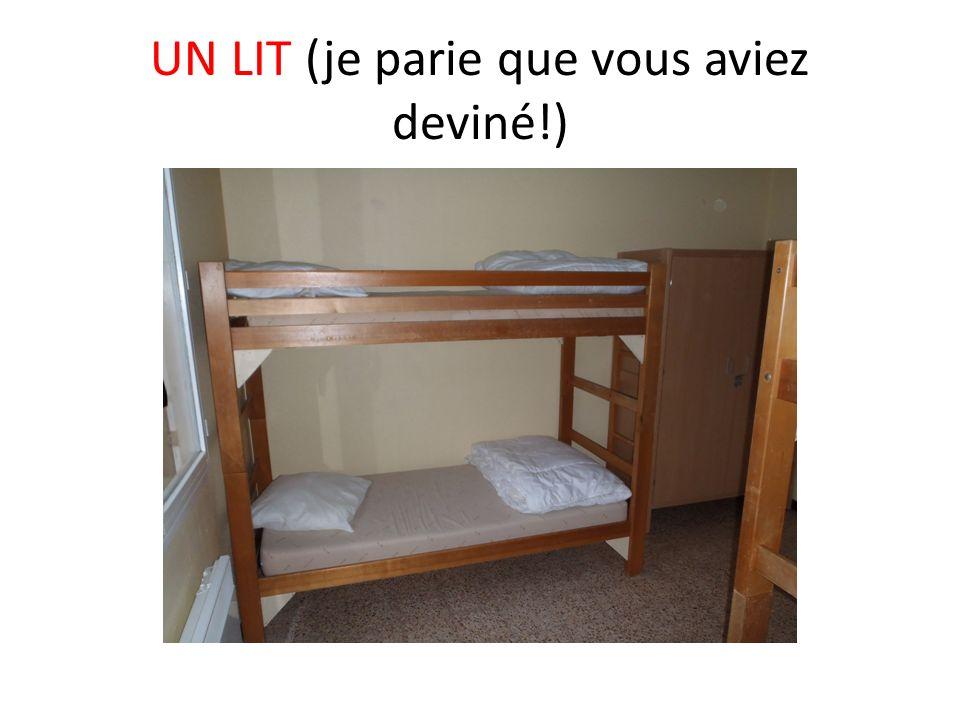 UN LIT (je parie que vous aviez deviné!)