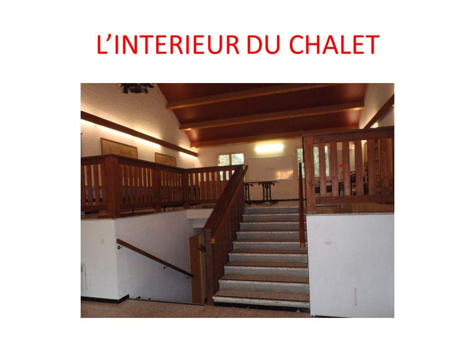 L'INTERIEUR DU CHALET