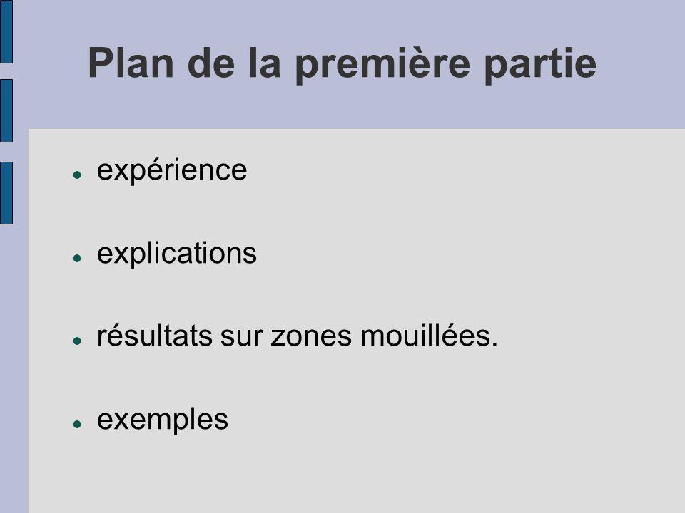Plan de la première partie