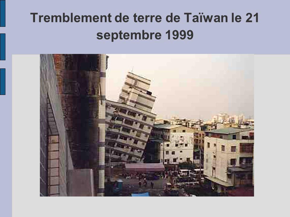 Tremblement de terre de Taïwan le 21 septembre 1999