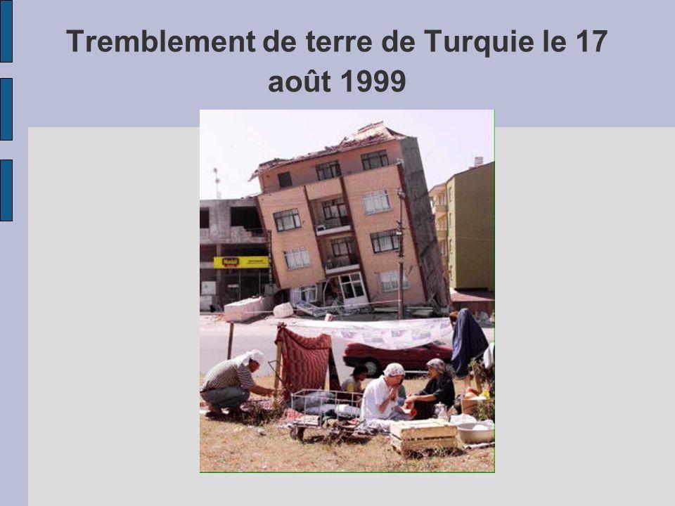 Tremblement de terre de Turquie le 17 août 1999
