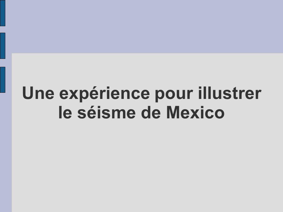 Une expérience pour illustrer le séisme de Mexico